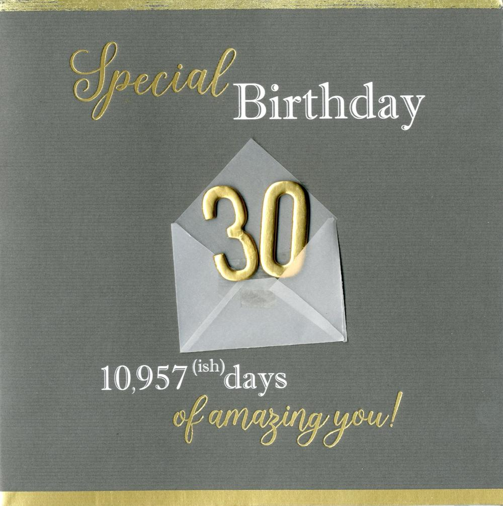 Special 30th Birthday Greeting Card