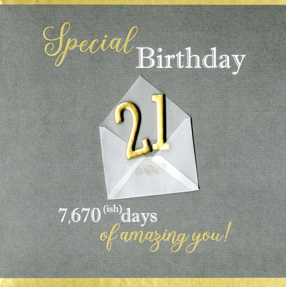 Special 21st Birthday Greeting Card