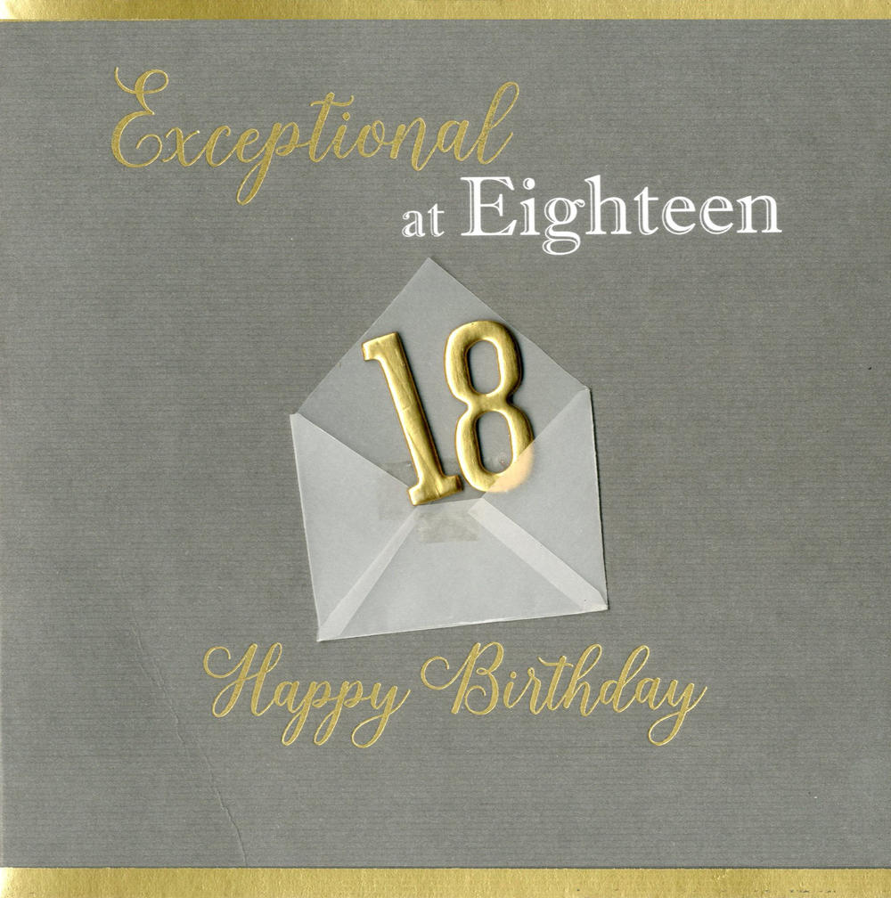 Exceptional At 18 18th Birthday Greeting Card
