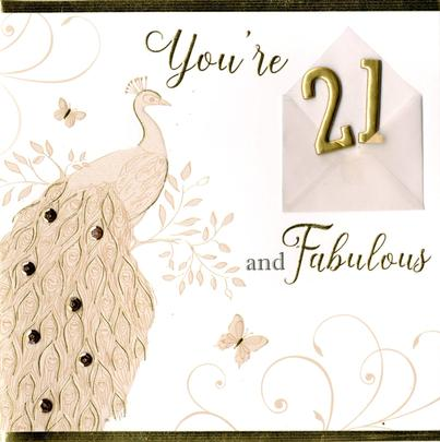 Fabulous 21st Birthday Greeting Card