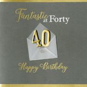 Fantastic At 40 40th Birthday Greeting Card
