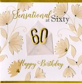 Sensational At 60 60th Birthday Greeting Card