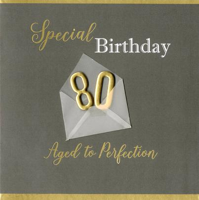 Special 80th Birthday Greeting Card