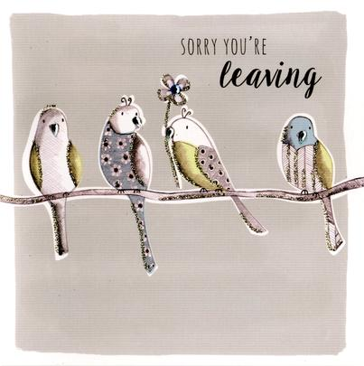 Sorry You're Leaving Embellished Greeting Card