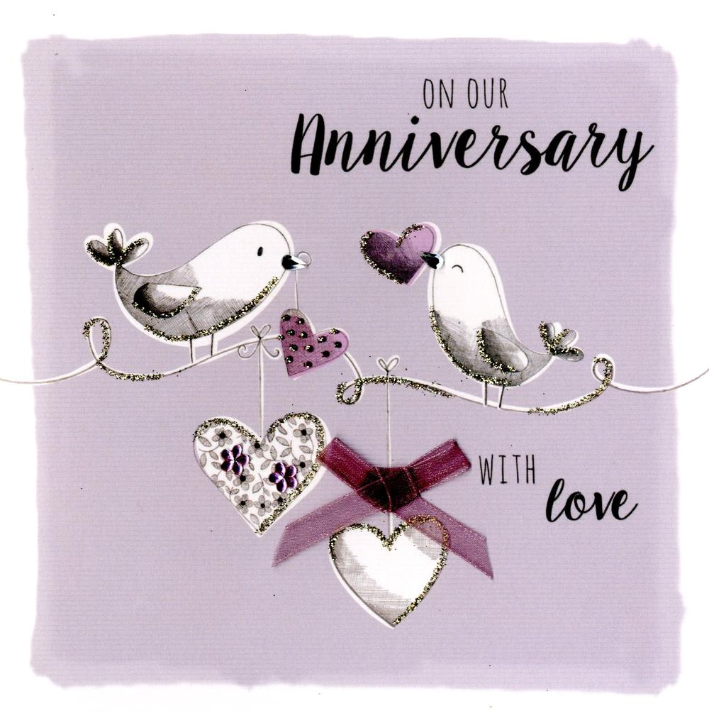 On Our Anniversary Embellished Greeting Card
