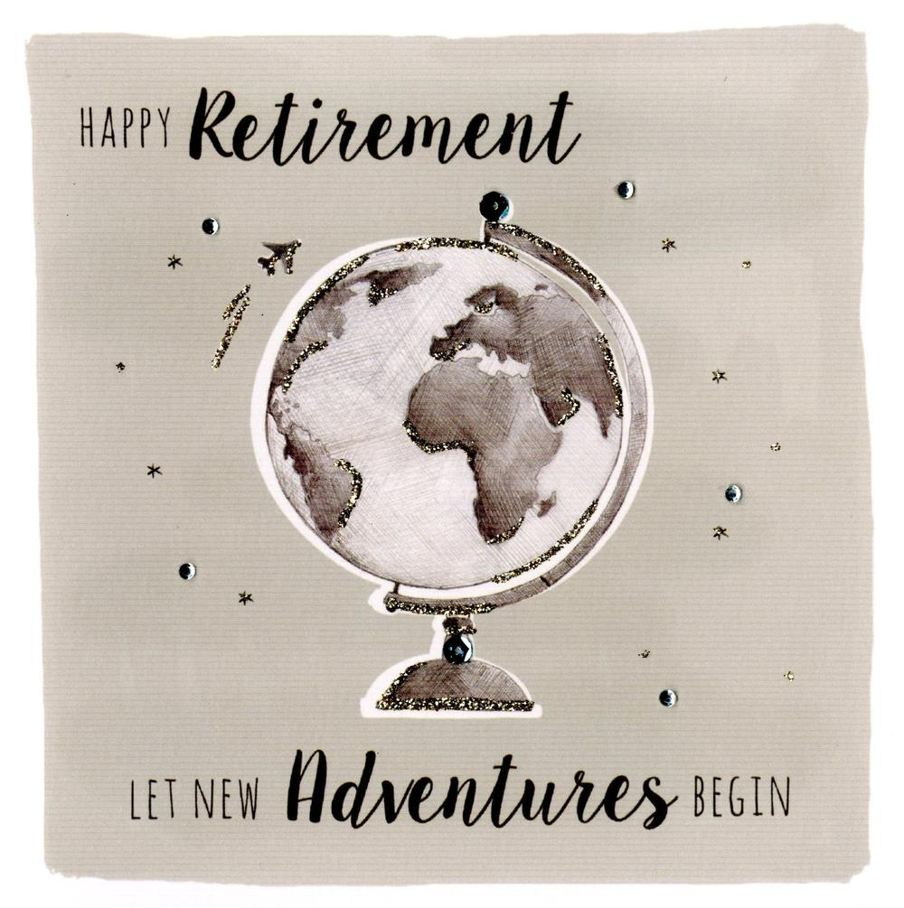 Happy Retirement Embellished Greeting Card
