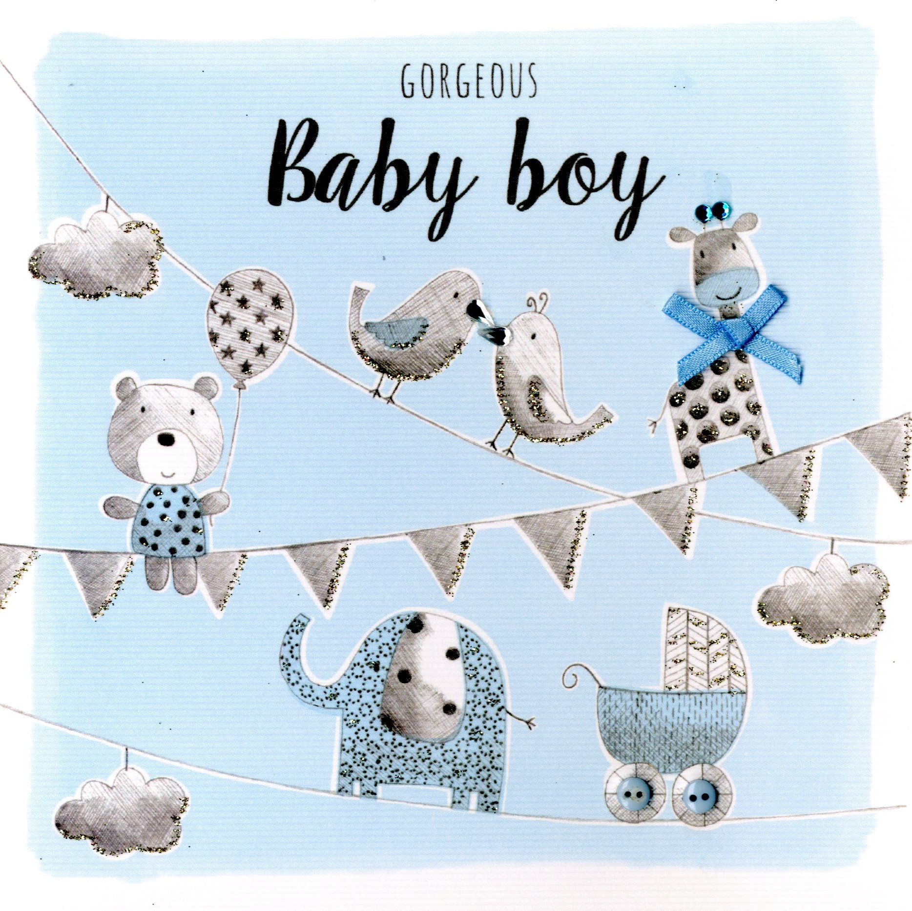 Gorgeous baby boy embellished greeting card cards love kates gorgeous baby boy embellished greeting card kristyandbryce Image collections