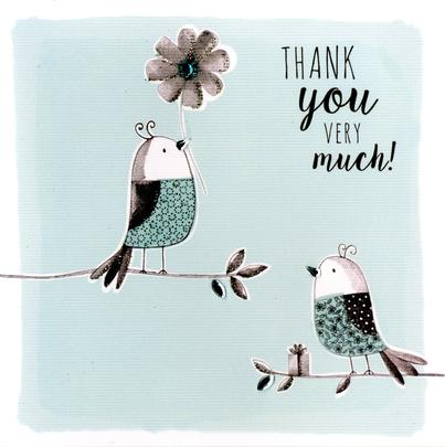 Thank You Very Much Embellished Greeting Card