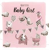Beautiful Baby Girl Embellished Greeting Card