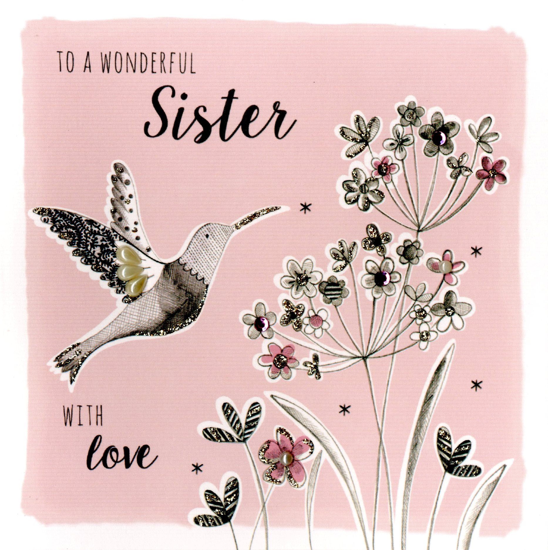 Wonderful Sister Birthday Greeting Card