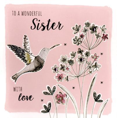 Wonderful Sister Birthday Greeting Card