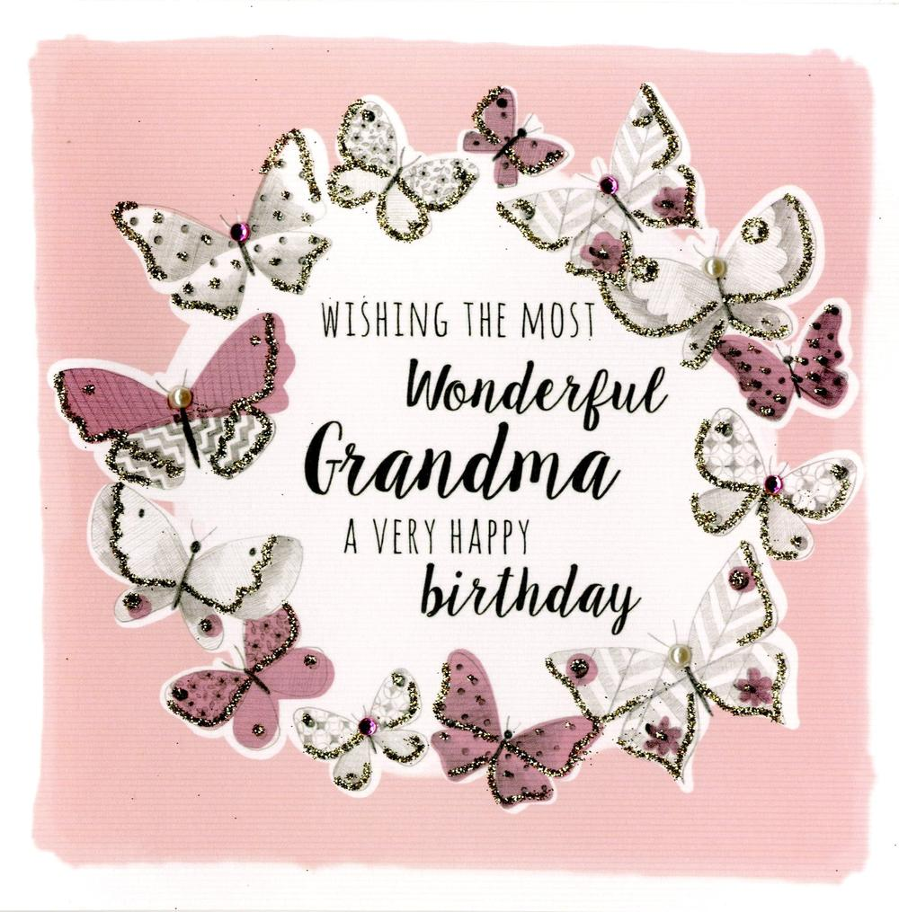 Wonderfu Grandma Birthday Greeting Card