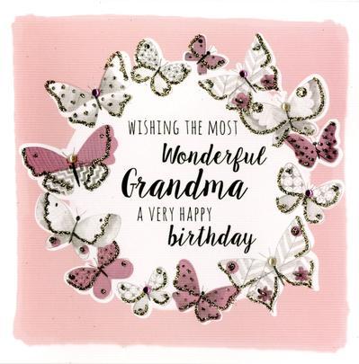Wonderfu Grandma Birthday Greeting Card