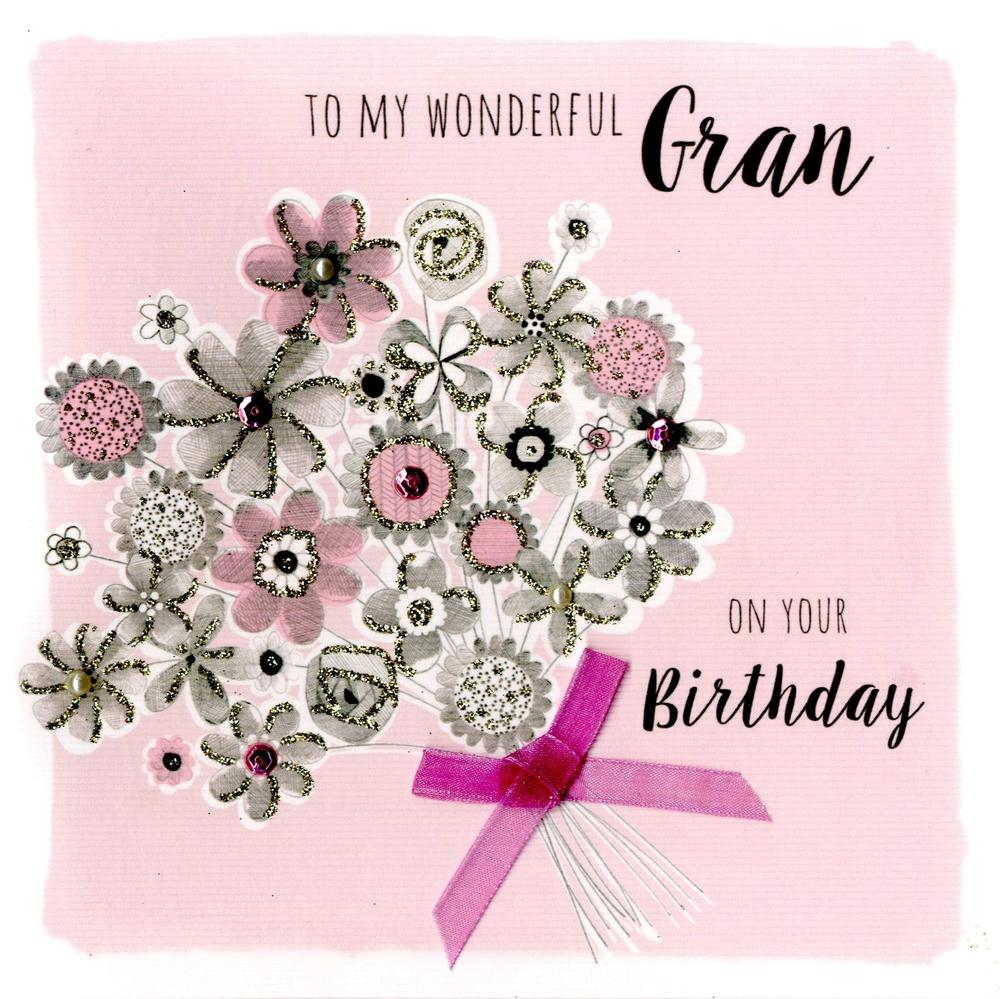 Wonderful Gran Birthday Greeting Card