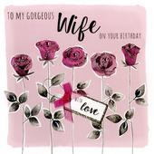 Gorgeous Wife Birthday Greeting Card