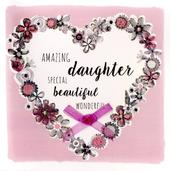 Amazing Daughter Birthday Greeting Card