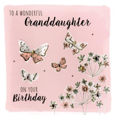 Wonderful Granddaughter Birthday Greeting Card