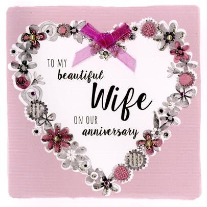 Beautiful Wife Birthday Greeting Card