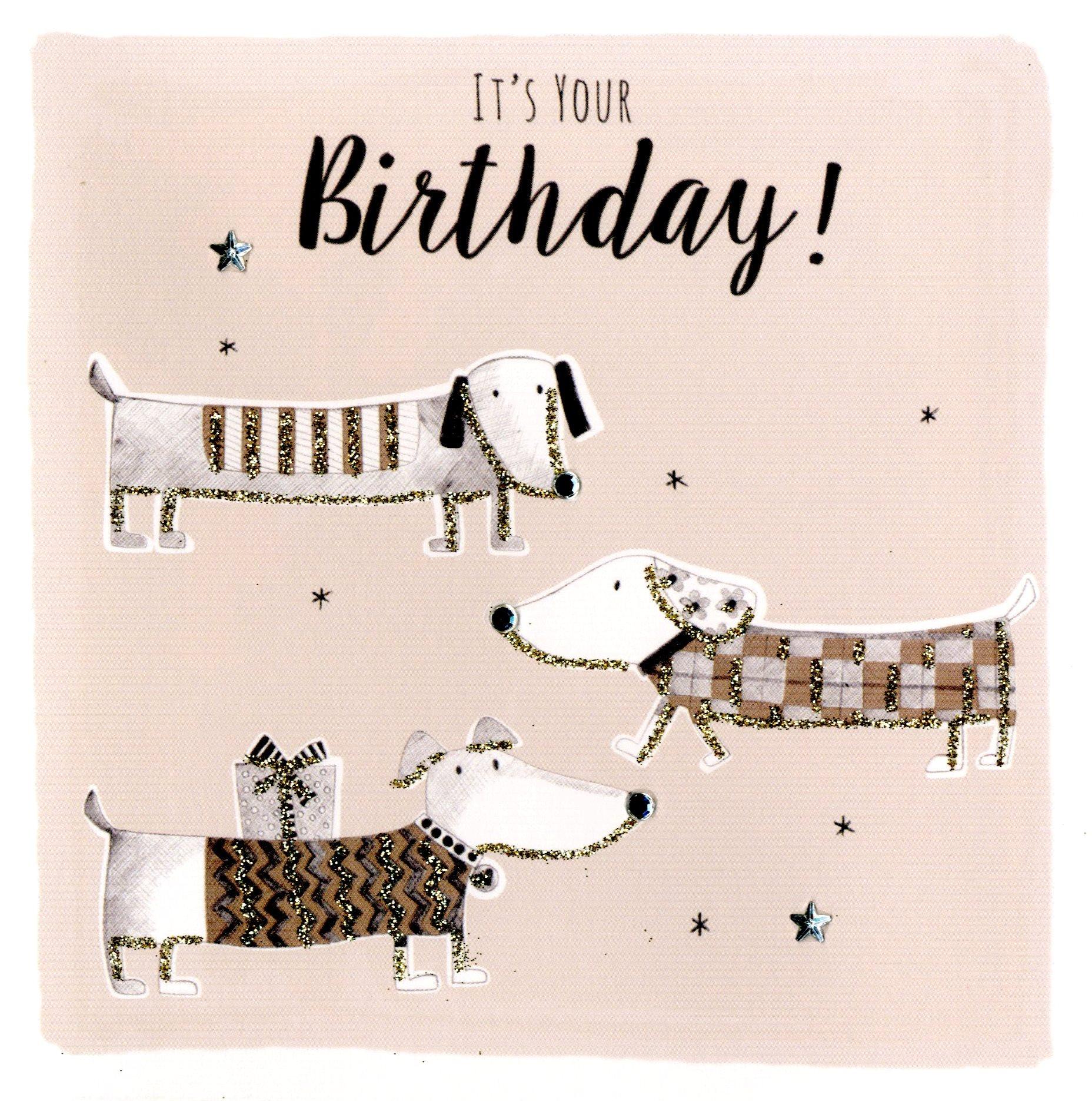 Sausage Dog Birthday Greeting Card