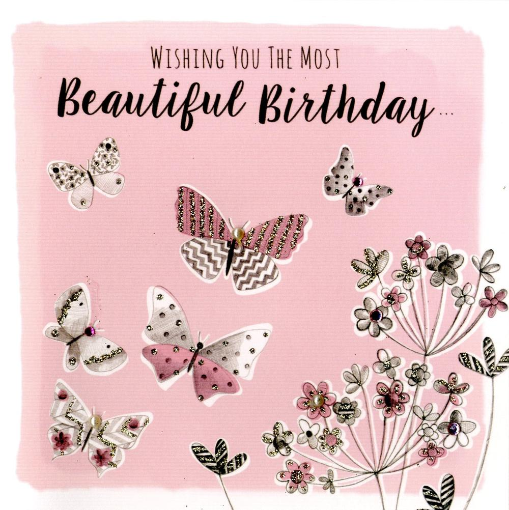 Butterfly Beautiful Birthday Greeting Card