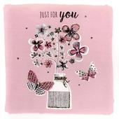 Just For You Greeting Card Blank Inside