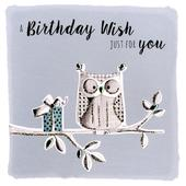 Owl Birthday Wishes Greeting Card