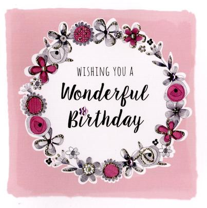 Wonderful Birthday Greeting Card
