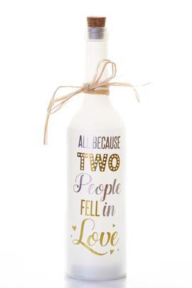 Two People Fell In Love Starlight Wedding Bottle Glass Light Up Message Bottles