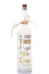 Two People Fell In Love Starlight Wedding Bottle Glass Light Up Message Bottles
