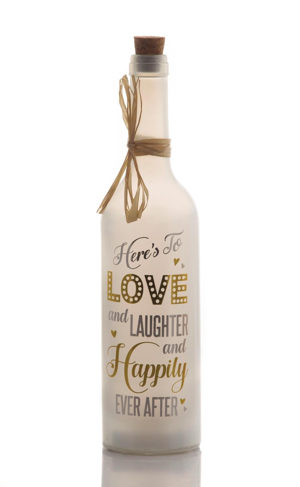 Happily Ever After Starlight Wedding Bottle Glass Light Up Message Bottles