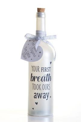 Your First Breath Starlight Bottle Glass Light Up Message Bottles