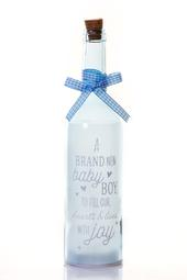 New Baby Boy Starlight Bottle Glass Light Up Message Bottles