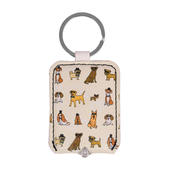 Ella Bella Rose Dogs Pattern LED Keylight Keyring