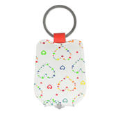 Ella Bella Rose Heart Pattern LED Keylight Keyring