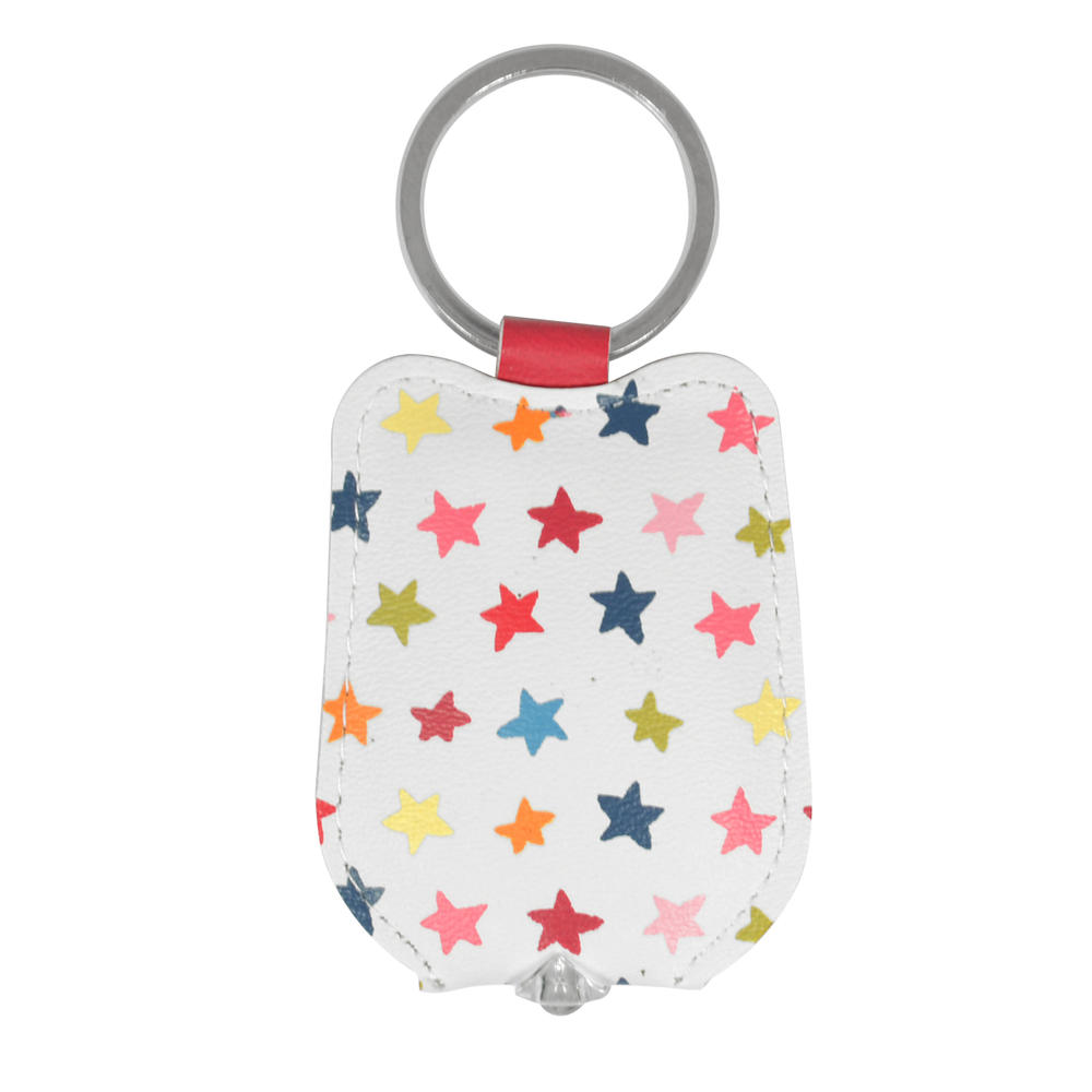 Ella Bella Rose Stars Pattern LED Keylight Keyring