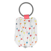 Ella Bella Rose Hearts Pattern LED Keylight Keyring