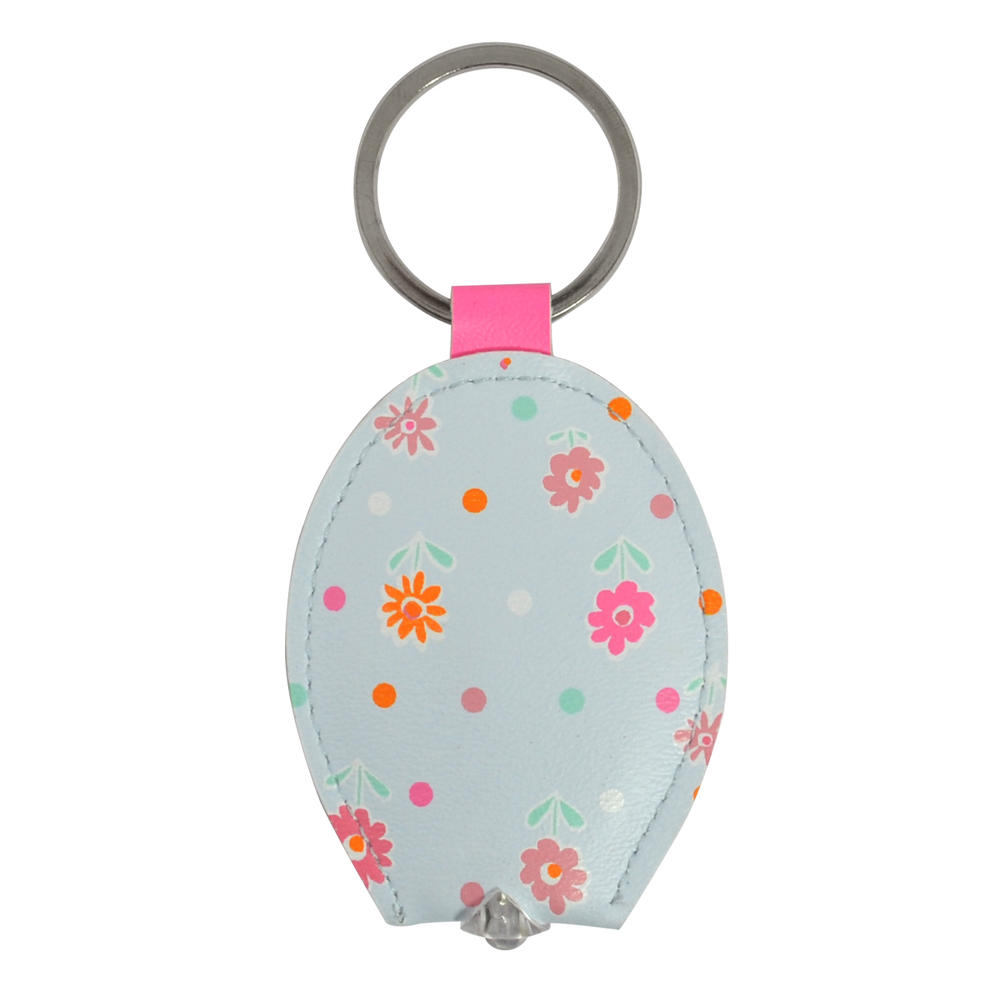 Ella Bella Rose Flower Pattern LED Keylight Keyring