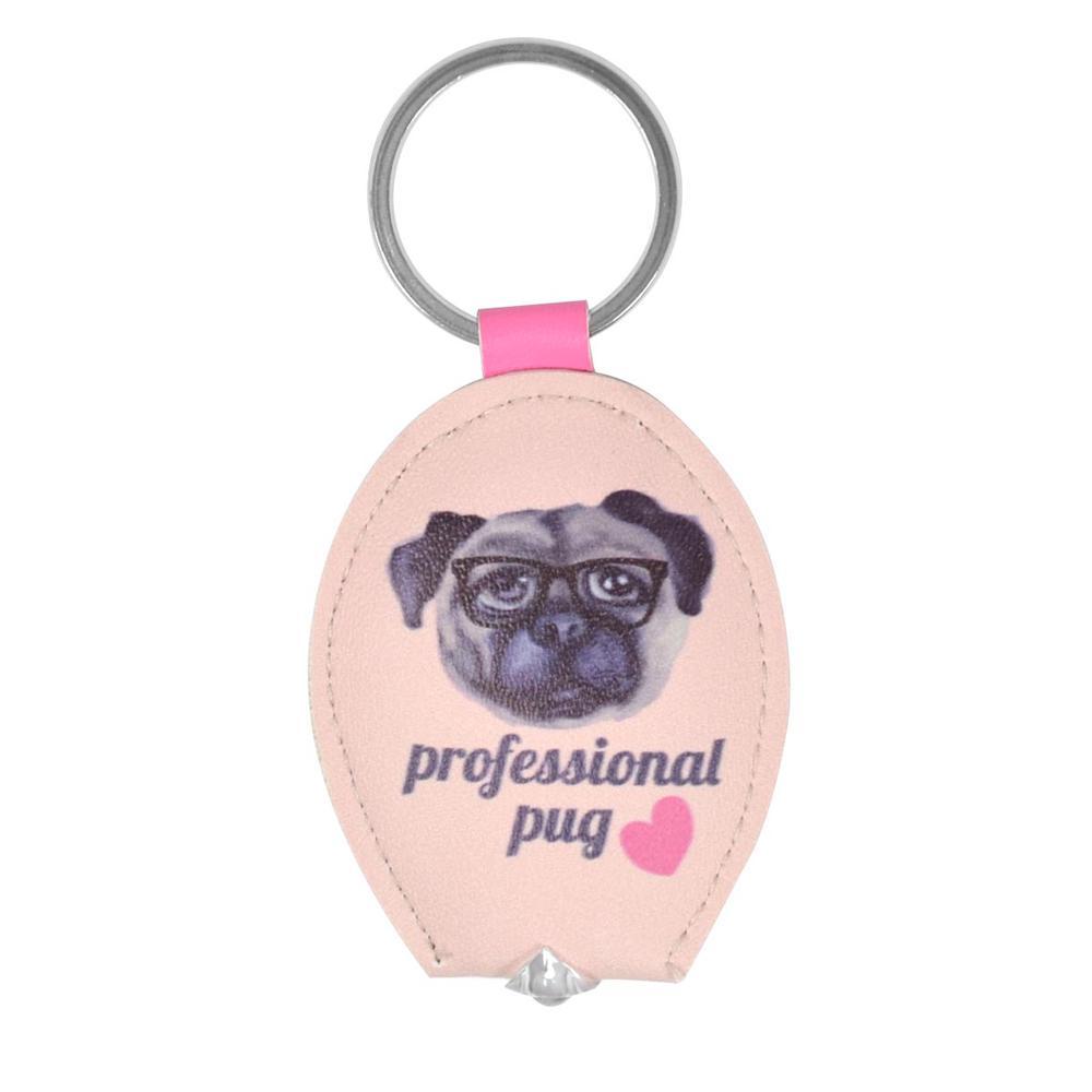 Professional Pug LED Keylight Keyring