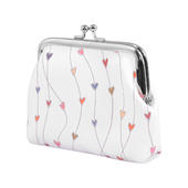 Ella Bella Rose Hearts Pattern Coin Purse