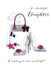 Beautiful Daughter Birthday Embellished Greeting Card