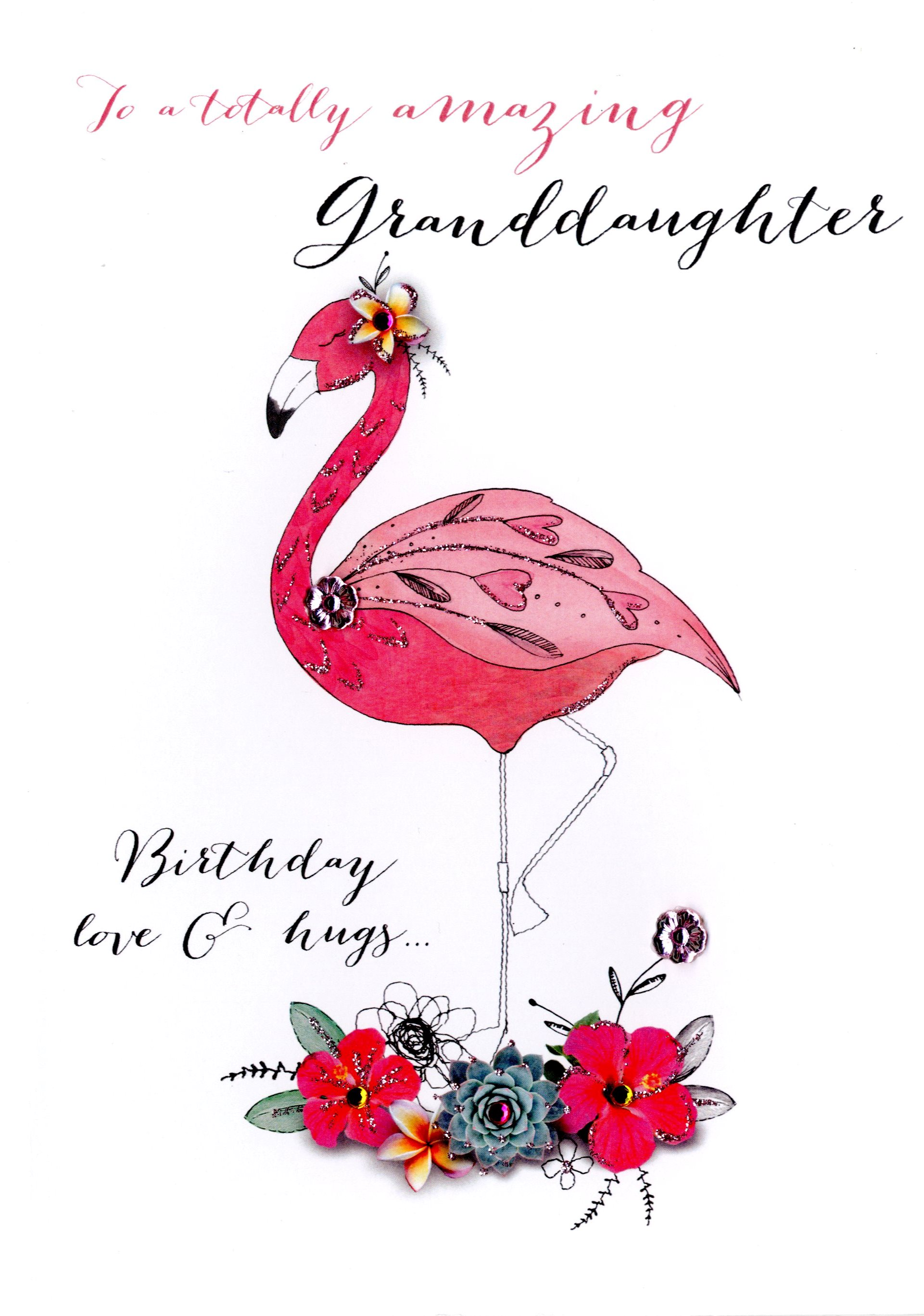 Amazing granddaughter birthday embellished greeting card cards amazing granddaughter birthday embellished greeting card bookmarktalkfo