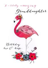 Amazing Granddaughter Birthday Embellished Greeting Card