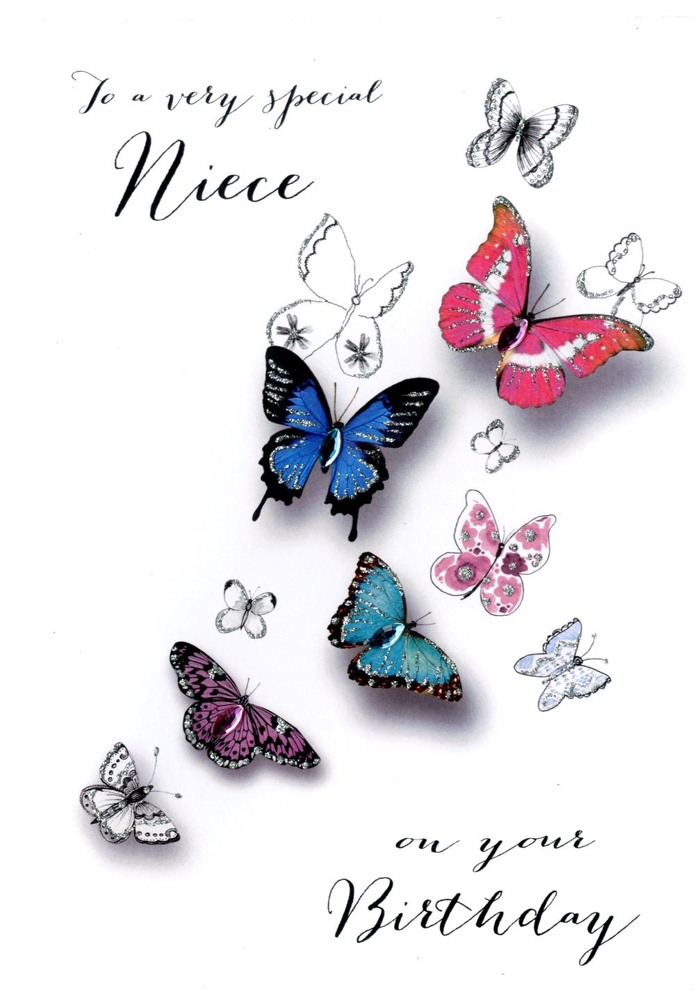 Special Niece Birthday Embellished Greeting Card