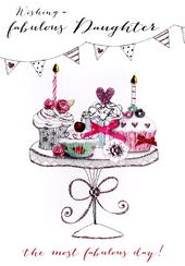 Fabulous Daughter Birthday Embellished Greeting Card