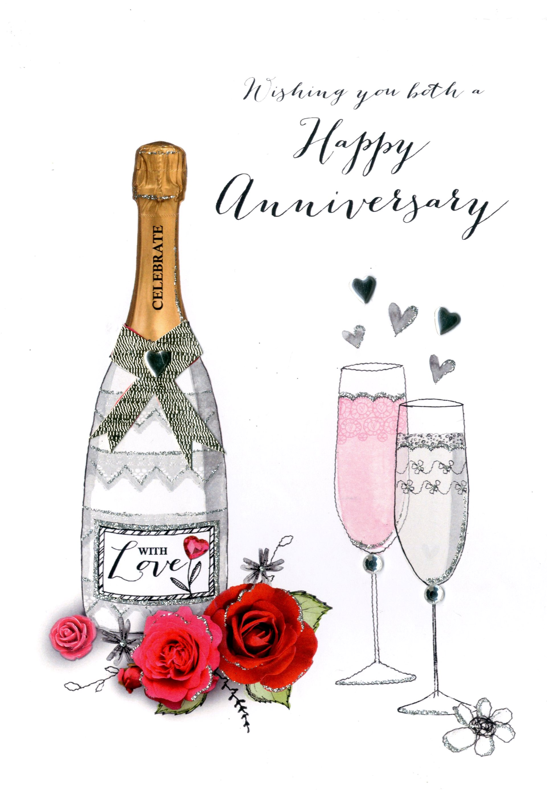 wishing you both happy anniversary greeting card cards