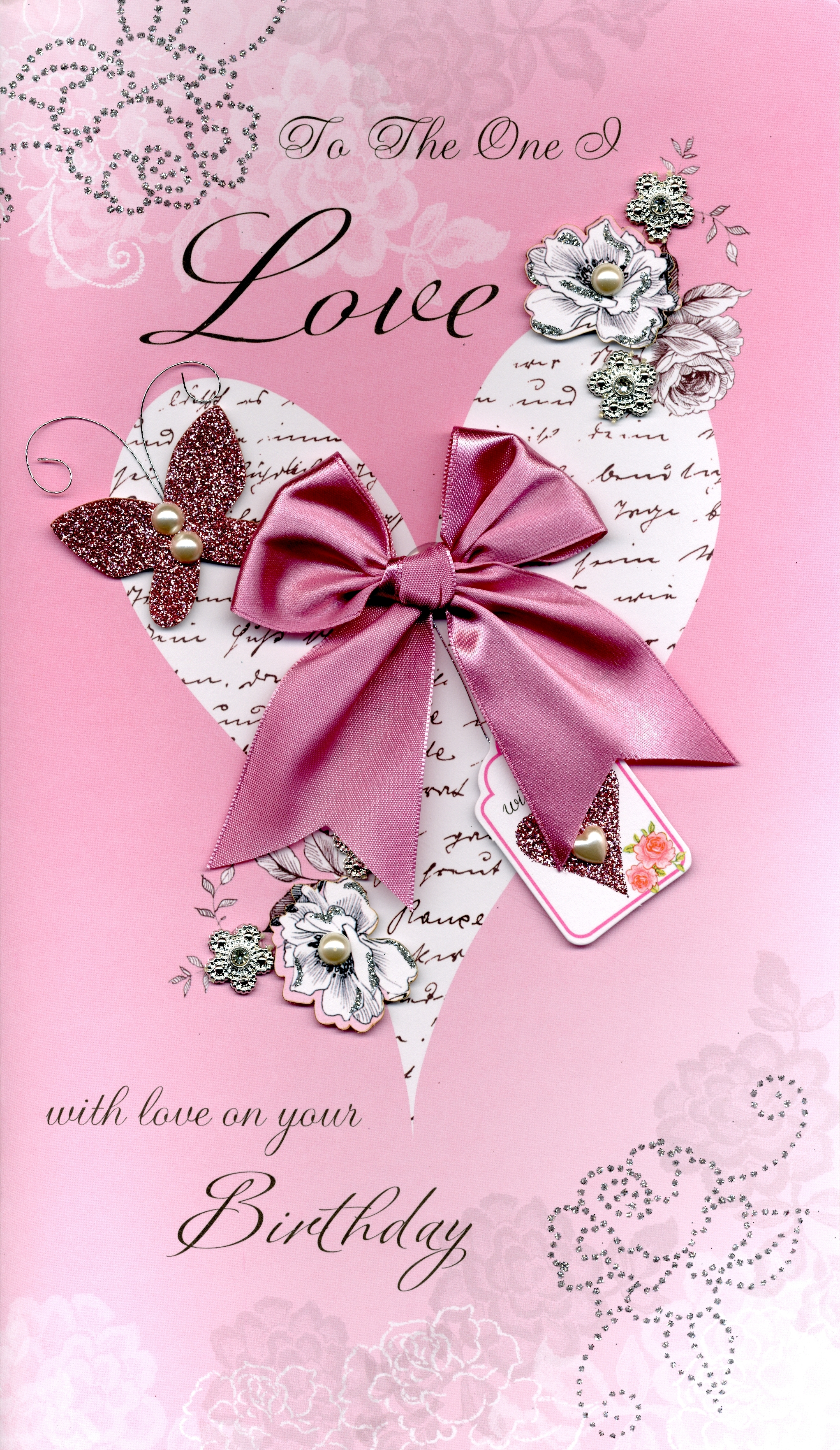 Boxed to the one i love embellished birthday greeting card cards boxed to the one i love embellished birthday greeting card kristyandbryce Image collections