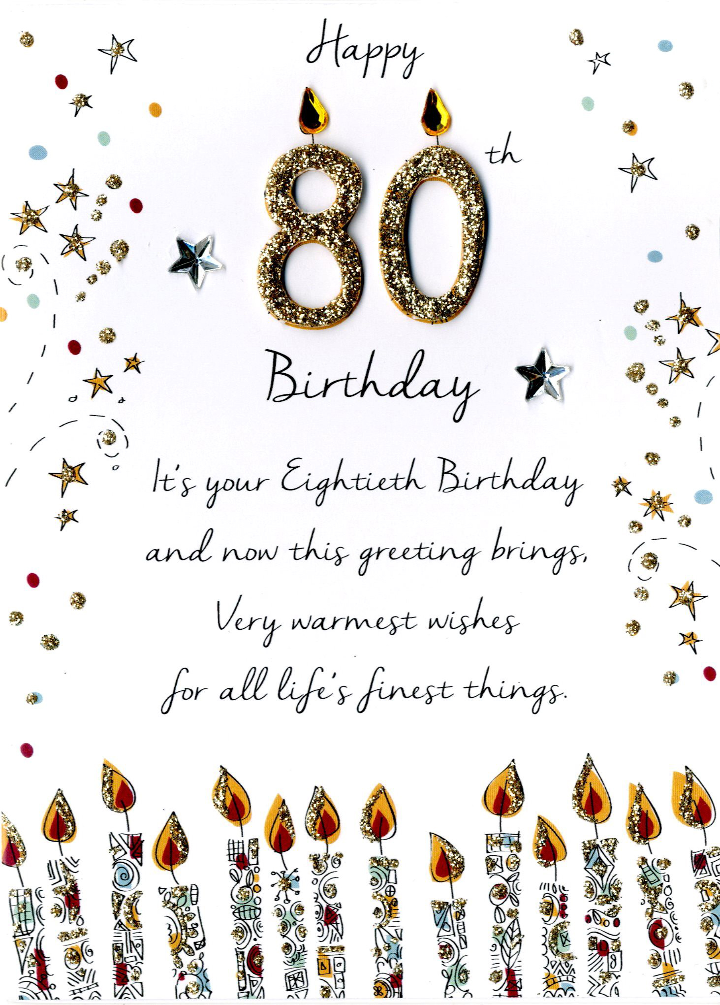 Male 80th Birthday Greeting Card