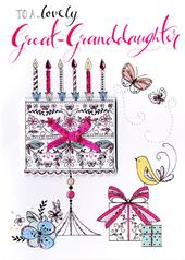 Great-Granddaughter Birthday Greeting Card