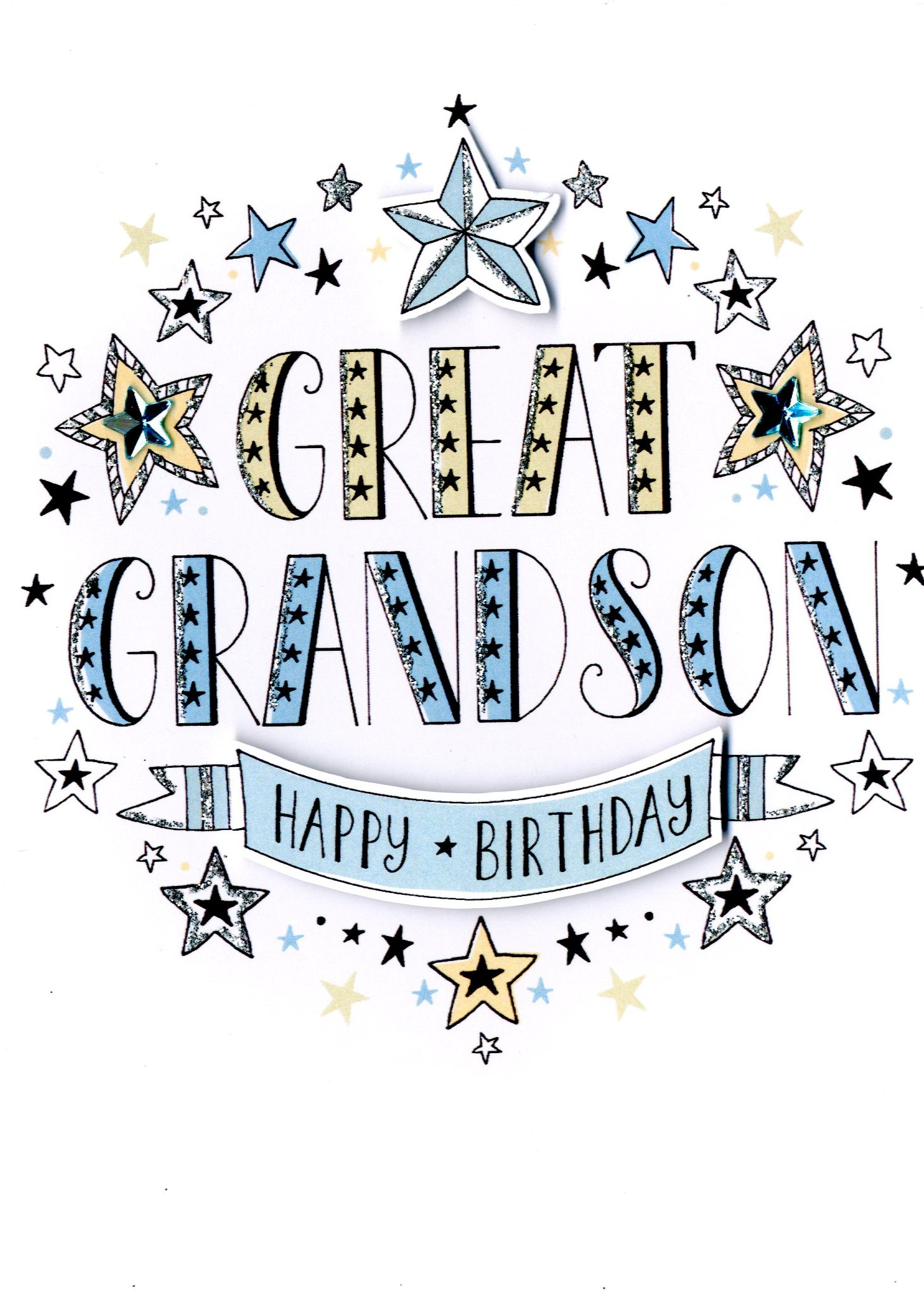 Great grandson birthday greeting card cards love kates great grandson birthday greeting card m4hsunfo