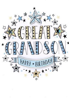 Great-Grandson Birthday Greeting Card